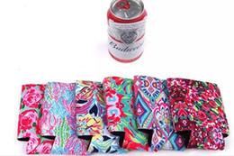 Argentina Colorido Lily Neopreno titular de lata Resuable estampado de flores de la taza de impresión de la botella Regular Cooler Coral Cooler Venta caliente Suministro