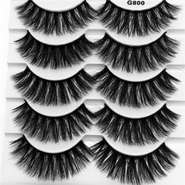 972be74e5fe wholesale black tray Coupons - 5 pairs trays G800 Real 3D Mink eyelashes 3D  Natural False