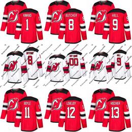 Wholesale Custom Hockey Jerseys Cheap - 2017-2018 Season New Jersey Devils Jersey 9 Taylor Hall 11 Brian Boyle 12 Ben Lovejoy Mens Womens Youth Custom Hockey Jerseys Cheap