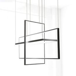 araña de lindsey adelman Rebajas Circle Pendant Lights para sala de estar Dormitorio oficina y cocina luces de suspensión luster de plafond moderne Black Pendant Lamp LED