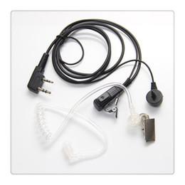 midland headset Rabatt 2-Pin verdeckte akustische Schlauch-Hörmuschel-Kopfhörer für Kenwood Puxing Wouxun Baofeng Zweiwegradio 2pin heißer Verkauf