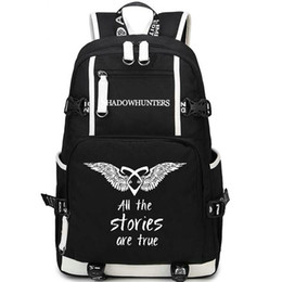 Wholesale Boy Stories - Shadowhunters backpack Shadow hunters day pack True stories school bag Leisure packsack Quality rucksack Sport schoolbag Outdoor daypack