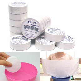 Wholesale Disposable Hair Towels - New White 100% Cotton Non-disposable Quick Dry Compressed Towel Soft Economy Bath Towels Convenient Home Sports Outdoor Camping Travel Kits