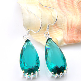 Wholesale Earring Variety - Luckyshine NeNew Arrival 2pcs lot 925 silver plated A variety of colors Simple Design Green Quartz crystal earrings for lady party gift E130
