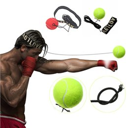 Wholesale Punch Balls - Boxing Equipment Fight Boxeo ball Training Accessories Reflex Speed Ball Muay Thai Trainer Quick Response Ball Punching
