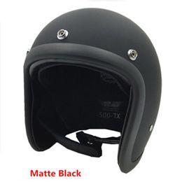 Wholesale Tt Helmets - Motorcycle Helmet Brand Japan TT&CO Thompson Glass Fiber Vintage motorcycle helmet Harley motorcycle helmet without Visor lens freeship
