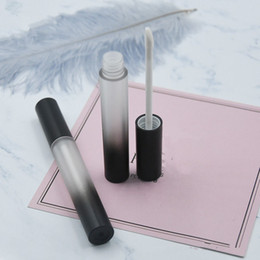 Wholesale lipgloss tube empty - Round Empty Lip Gloss Tube, Gradient Black Plastic Elegant Lip Liquid Cosmetic Container, lipgloss vial F086