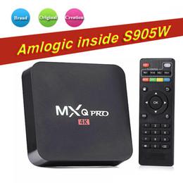 Wholesale Android Factory Settings - Factory Sale MXQ Pro Smart Android 7.1 TV Box Rockchip RK3229 Amlgoic S905W KD17.5 KD18.0 Quad Core Google Set Top Box