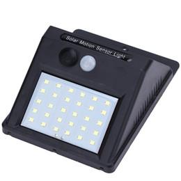 Lampade solari per pareti online-Impermeabile LED a luce solare Pannello solare Power PIR Sensore di movimento LED Garden Light Via esterna Senso Lampada da parete a luce solare