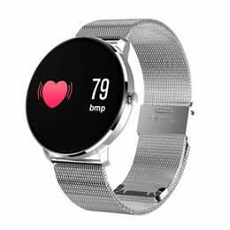 Wholesale lcd bracelet watch - Wristbands Bracelet Watch CF007S with Bluetooth LCD Screen For IOS & Android with Blood pressure and Heart Rate Monitoring Waterproof