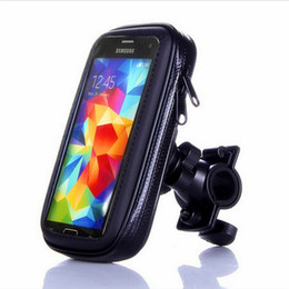 waterproof bicycle mount Promo Codes - BLACK IPX4 Waterproof Bicycle Bike Handlebar Stand Mount Holder Bag Pouch for iphone X NOTE 8 S8 S M L XL SIZE 50pcs lot