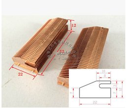 copper heat pipes Promo Codes - 53*22*12mm Copper Heat Dissipation Fin Thermal Conductivity Brass Fin Radiator Pipe Copper Heatsink Heat Dissipation fins