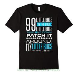 Programación de nuevos programadores online-Programador divertido Camiseta 99 Little Bugs Codificación Programación Nueva moda Casual Algodón manga corta