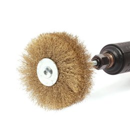Wholesale Grinding Abrasive Wheel - Freeshipping Polished Steel Wire Brush Wheel 80*6mm Wire Rust Grinding Petiole For Rotary Electric Abrasive Tools 1Pc