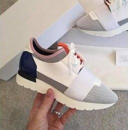 Wholesale famous points - TOP Sell High Quality Paris Famous Brand Casual Shoes Kanye West Men Women Fashion Low-Top Sneakers Genuine Leather Designer Mens Shoes