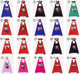 trajes do dia das bruxas dos desenhos animados Desconto Mais novo 101 projetos de dupla face superhero capa 70 * 70 cm cabo dos desenhos animados com máscara para crianças de natal do dia das bruxas cosplay capes prop trajes