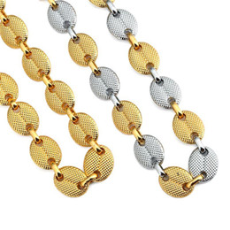 Wholesale Gold Tone Wedding Jewelry - 2018 new Hiphop Men's Chain Two Tone Cuban Chains Necklace For Men Women Jewelry 29.5 Inch Long Necklaces For Gifts