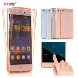 Custodia in silicone per huawei online-Custodia per Huawei P10 Lite P10 P9 Plus hono 8 Lite 360 gradi Full Body Silicon Phone Coque per huawei P8 P9 Lite Cover