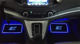 2019 tábuas em movimento PAMPSE 4 pcs Car Interior Atmosfera Lâmpada Tapetes de Chão CONDUZIU a Lâmpada Decorativa controle APP Luz Piscando Colorido RGB Com Controle Remoto