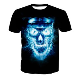 t shirts men full print Promo Codes - Men T-shirt Skull 3D Full Print Man Casual Tops Unisex Short Sleeves Digital Graphic Tee Shirt Tees T-Shirts Blouse (RLT-4176)