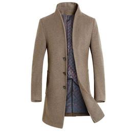 Inverno Uomo Trench Tuta sportiva Moda Faux Wool Business Giacca lunga  Cappotto Slim Fit Giacca a vento Solid Casual Uomo ClothesS-3XL giacca di  lana degli ... 4f93c978e02