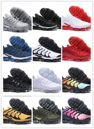 Wholesale Wine Air - new colors !! Vapormax shoes plus AIR for man women , WOLF GRAY White Silver triple black rainbow gray red wine all white
