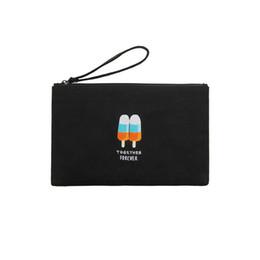 Wholesale gold ipad mini case - Kiitos Life Canvas funny embroidery flat case handbags in Summer Talk Series adaptable for ipad mini(FUN KIK)