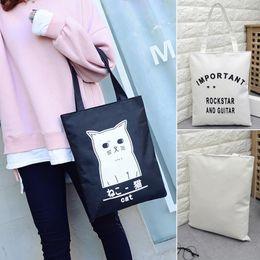 Wholesale Random Shops - Women Handbags Canvas Tote bags Reusable Cotton grocery Shopping Bag Webshop Eco Foldable Shopping bag Random pattern