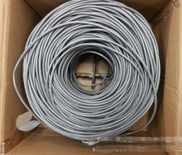 Scatola di ferro in alluminio online-Vendita diretta linea netta 305 metri quattro alluminio quattro ferro RJ45 scatola di filo netto installare la linea di connessione di rete filo una scatola di partenza.
