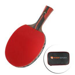 raquetes de tênis de mesa dupla felicidade Desconto Raquete De Tênis de mesa + Carry Bag Set Raquete de Borracha Tênis De Mesa Esportes Indoor Espinhas Fora Velocidade e Controle de Raquete Esportes