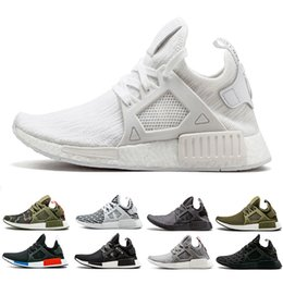 red skull shoes Promo Codes - NMD XR1 sneaker running Shoes Mastermind Japan Zebra Skull Fall Olive green Glitch Black White Blue Camo Pack men womens sports shoes 36-45