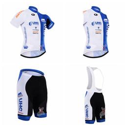 Personalizar baberos jersey online-Pantalones cortos de jersey (bib) cortocircuitos de la camiseta del equipo de UHC Chaleco sin mangas establece nueva ropa caliente de la bici puede el tamaño mezclado y D2138 modificado para requisitos particulares