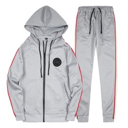 Wholesale Cardigan Men Wear - Spring Homme Tracksuit Striped Design Pullover With Pencil Pants Suits 2ps\set Casual Outdoor Suit Men Wear Plus US Size
