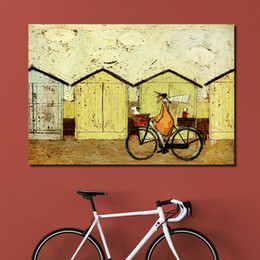 Wholesale Dog Pictures - Decorative Picture Wall Art Canvas Prints Riding With Dogs Animal Oil Painting for Living Room Home Decor no Framed