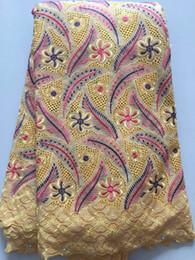 Canada KE1018 Livraison gratuite (5 yards / pc) tissu africain de dentelle de coton de polonais de haute qualité avec la conception élégante pour la robe de soirée cheap elegant african dress designs Offre