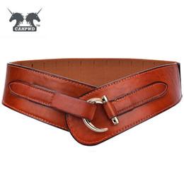 abito stretto in pelle Sconti Cintura vintage elastica in pelle da donna  Cinture con fibbia in 7e097a3cc77