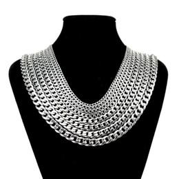 9c00698bee37 2019 anchos collares de plata para mujer Los hombres de moda de titanio de  acero de