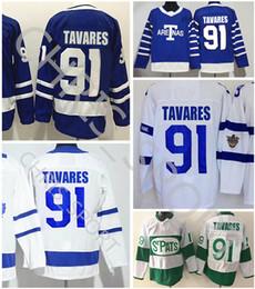 Toronto Maple Leafs estádio série de hóquei jersey # 91 John Tavares Stpats estádio Aretnas de inverno clássico jerseys de Fornecedores de nhl hóquei vancouver jersey