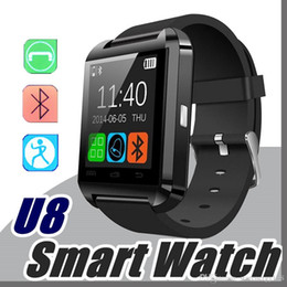 Wholesale Cheap Fitness Watches - 10X Factory wholesale cheap U8 smartwatch U8 Bluetooth Smart Watch Phone Mate For Android IOS Iphone Samsung LG Sony With call reminder A-BS
