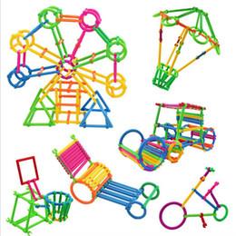 brinquedos de jardim de infância Desconto Quebra-cabeça de plástico colorido inteligentes Blocos da vara do jardim de infância montado jogos infantis Brinquedos Educativos inteligentes vara Building Blocks Magia Vara
