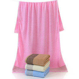 Wholesale bathroom textiles - Cotton Holiday Bath Beach Towels 70*140cm Shower Towel Soft Thick Sport Towel Home Textile Bathroom Towels OOA4278