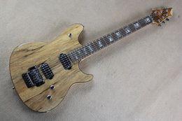 2019 tremolo de corda Frete grátis Top Quality madeira maciça corpo Burlywood 6 cordas guitarra elétrica com Floyd Rose tremolo tremolo de corda barato