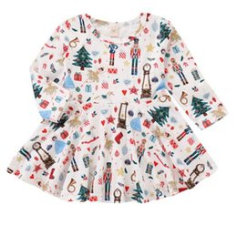 d22334e91a85 Christmas Gift Cute Toddler Baby Girl Santa Claus skirt white printe Dress  Long-Sleeves Skirt Outfits Set