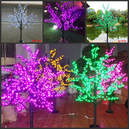 luci fiore di ciliegio fata Sconti 1.5 M 5ft Altezza LED Artificiale Cherry Blossom Alberi Luce di Natale 480/576 pz LED Lampadine 110/220 V impermeabile fairy garden decor