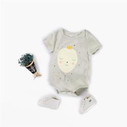 Wholesale Cute Jumpsuits - Newborn Baby Romper INS Summer Short Sleeves Cute Balloon Printed Jumpsuit Baby Onesies Bodysuit Kids Boy Girl Romper Free Shipping T36