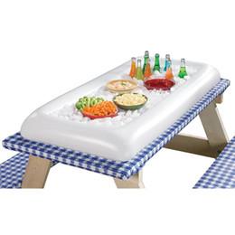 Nuotare piscina forniture online-Summer Party Gonfiabile Salad Bar Buffet secchiello per il ghiaccio Piscina all'aperto Decorazione Forniture Giocattolo Divertimento Regalo Compleanno di matrimonio