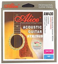 Cuerdas clásicas de la guitarra liberan el envío online-2019 NUEVOS Estilos Cuerdas de Guitarra Alice AW430 Oro Eléctrica Clásica Cuerdas de Guitarra Acústica Envío de Alta Calidad