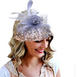 feather hats Australia - 2018 Elegant Ladies Fascinators Hat Wedding Accessories Sinamay Fancy Feather Headpiece Black Event Headwear High Quality