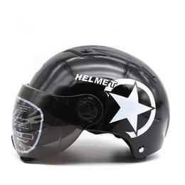 Capacete de motocicleta de jato aberto on-line-Mais novo casco moto capacete rosto aberto Vintage jets helmet Retro Tamanho Ajustável Motocicleta e Califórnia motoqueiro
