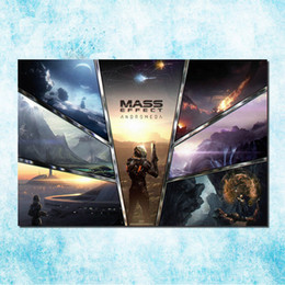 Wholesale Game Posters - Mass Effect 2 3 4 Hot Shooting Action Game Art Silk Canvas Poster 13x20 24x36 inch Pictures For Living Room Decor (more)-6